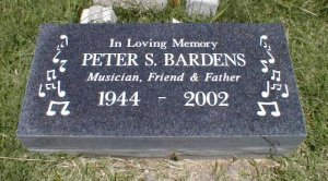 Peter Bardens R.I.P. - Grave 1944-2002