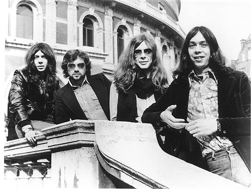 Camel Classic lineup (1970-75) Left to right - Peter Bardens, Doug Ferguson, Andy Ward, Andrew Latimer (taken at the Albert Hall, London)