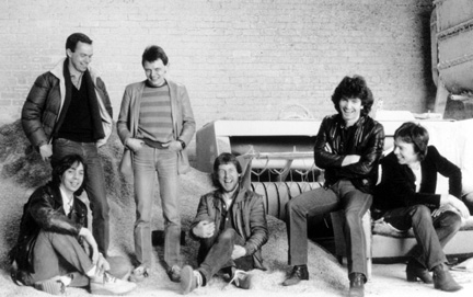 Camel 1982 Lineup - (L-R) Andrew Latimer, Kit Watkins, Andy Dalby, Chris Rainbow, Stuart Tosh, David Pation