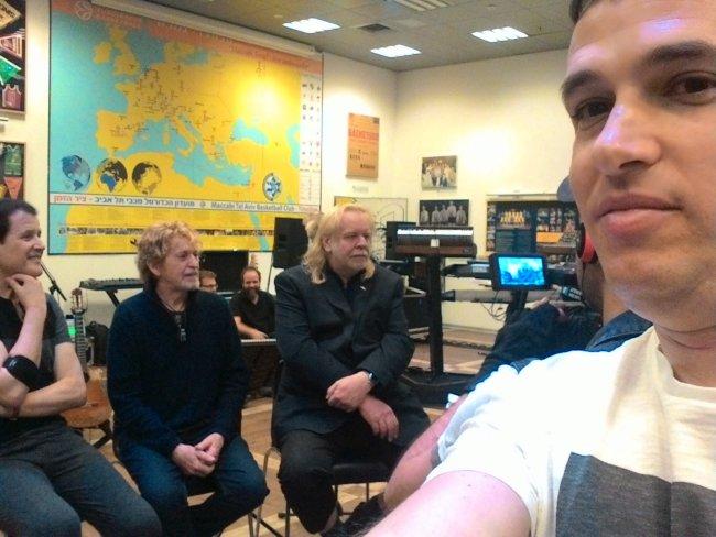 אורי ברייטמן פוגש את ג'ון אנדרסון, ריק ווייקמן וטרבור רייבין בתל אביב - מרץ 2017