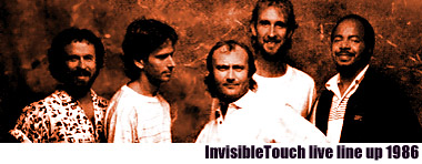 Genesis Invisble Touch live lineup 1986
