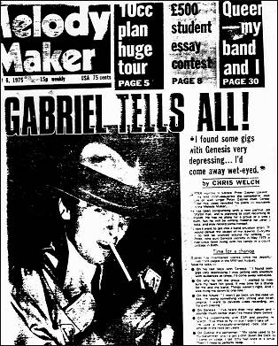 Gabriel Interview on Melody Maker 1975