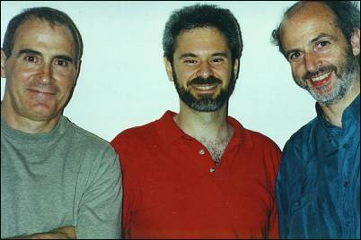 Ray Shulman, Daniel Barrett (webmaster), Kerry Minear (London, 1998)