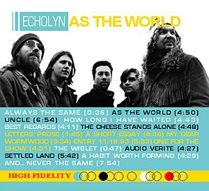 Echolyn - as the World - 2005 - Reissue - 2CD