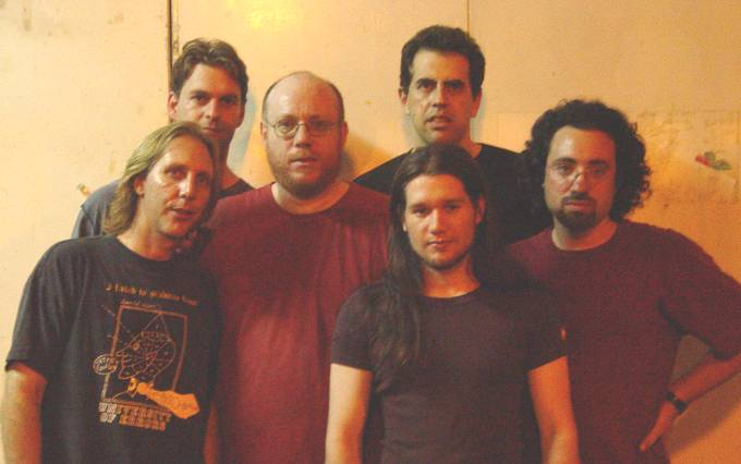 Left to Right - Dave Kerman (long hair), Roy Yarkoni (tall guy), Yehuda Kotton (beard), Ishay Sommer (very long hair), Udi Koomran (black short hair), Udi Susser (French beard)